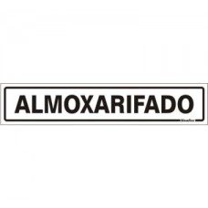 PLACA SINALIZE 05x25 - ALMOXARIFADO