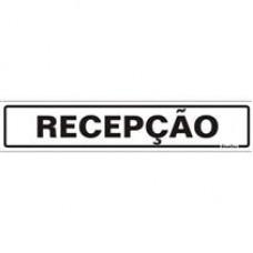 PLACA SINALIZE 05x25 - RECEPÇÃO