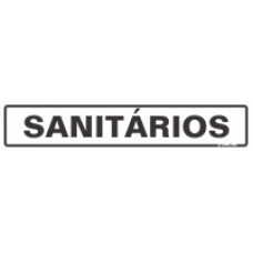 PLACA SINALIZE 05x25 - SANITÁRIOS