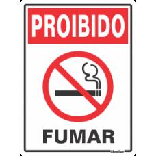 PLACA SINALIZE 15x20 - PROIBIDO FUMAR