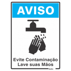 PLACA SINALIZE 15x20 - EVITE CONTAMINAÇÃO