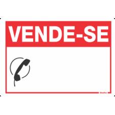 PLACA SINALIZE 20x30 - VENDE-SE