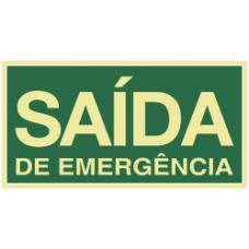 PLACA ROTA DE FUGA 12x22,4 - SAÍDA DE EMERGÊNCIA