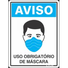 PLACA SINALIZE COVID - USO DE MÁSCARA