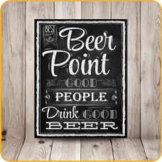 PLACA SINALIZE 18x23 - BEER POINT